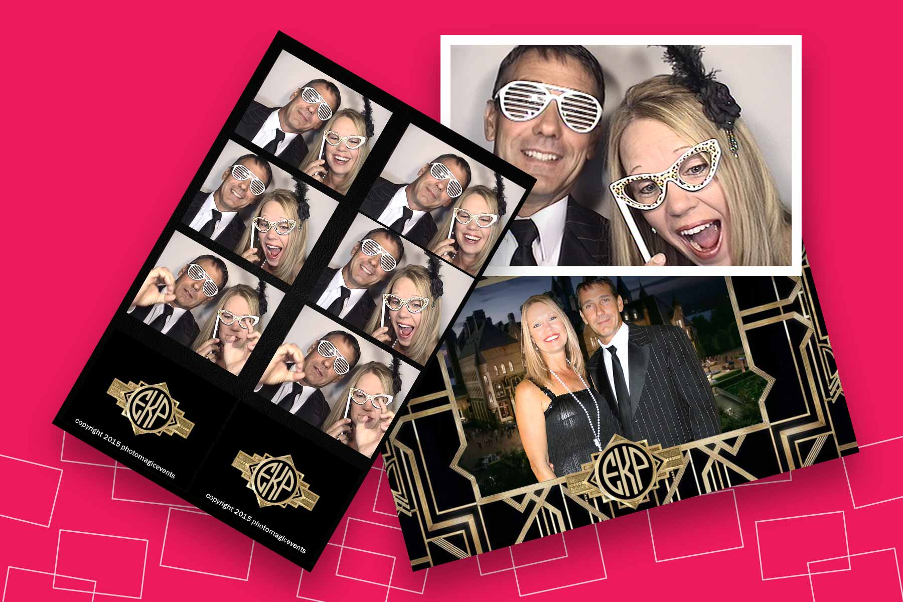 Custom Photo Strip Frame for Arcade Photo Booth | Photo Magic Events