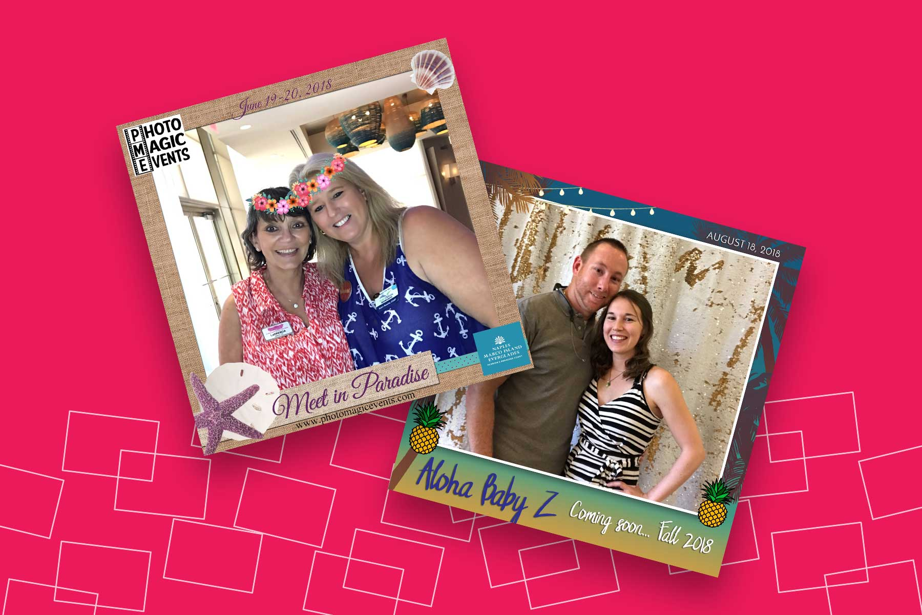 Selfie Print Station Rentals with Custom Instagram Style Photo Frames | Photo Magic Events, A SWFL Photo Booth & Event Rental Company